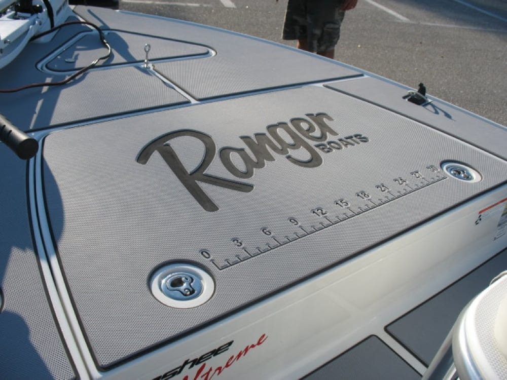 This is an after shot of the front deck. The Ranger logo and ruler stick really set it off.