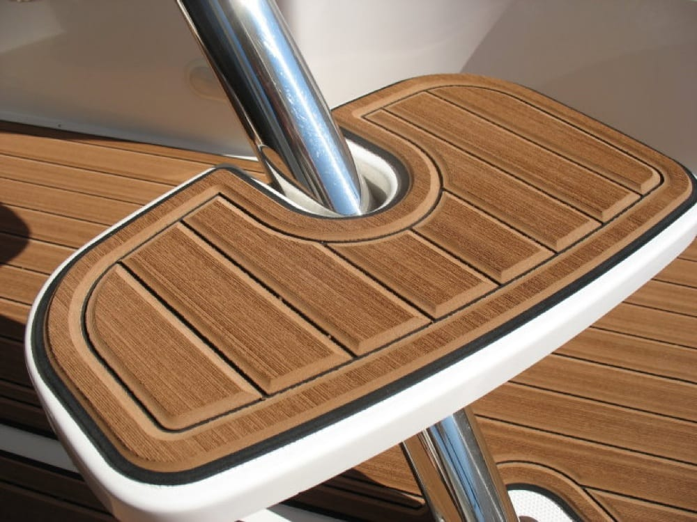 An up close look at the texture of the faux teak SeaDek