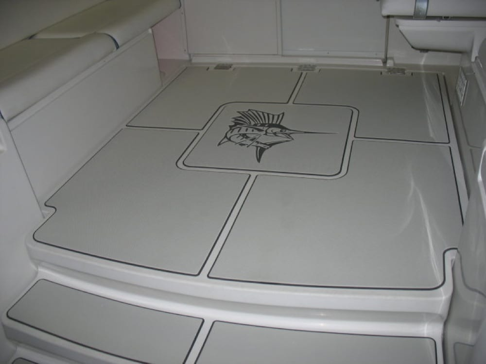 A shot after the custom floor pads were installed