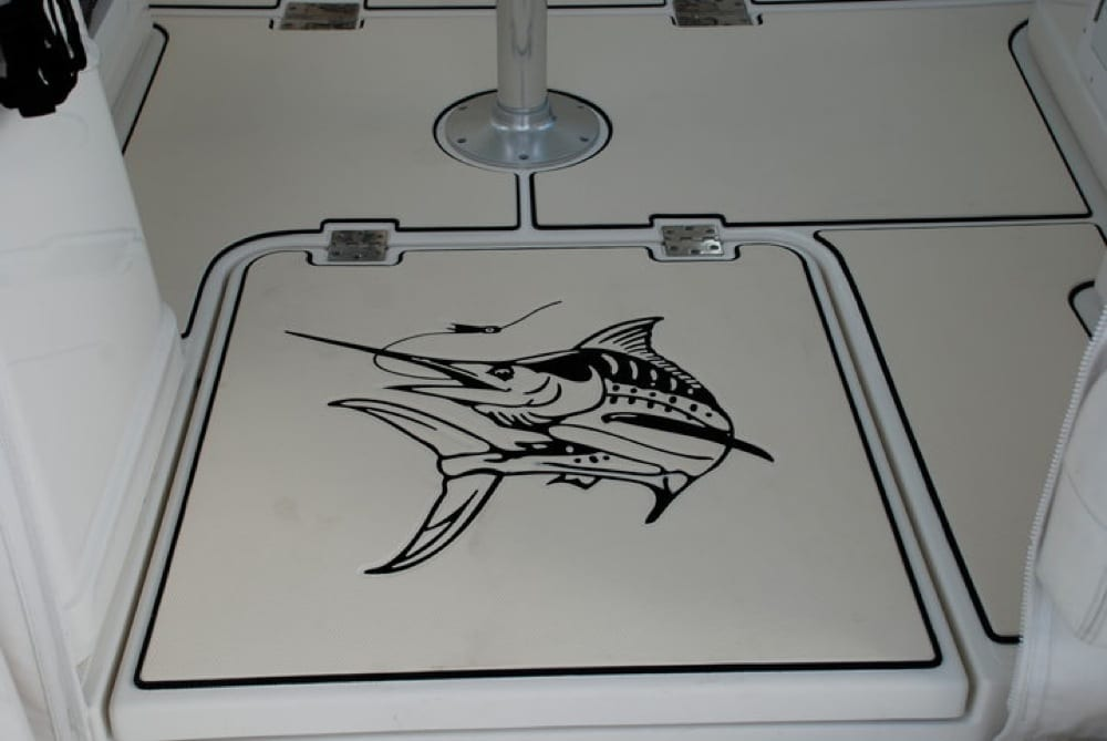 After the SeaDek was installed with an awesome Marlin logo designed by Boldwater