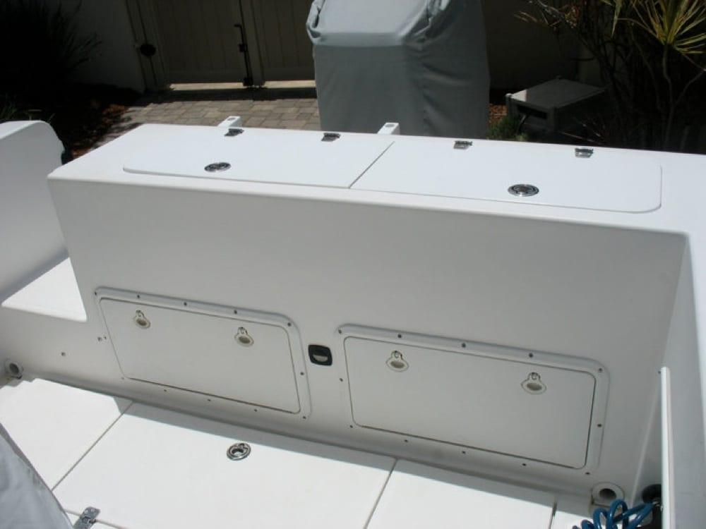Transom before installing coaming bolsters