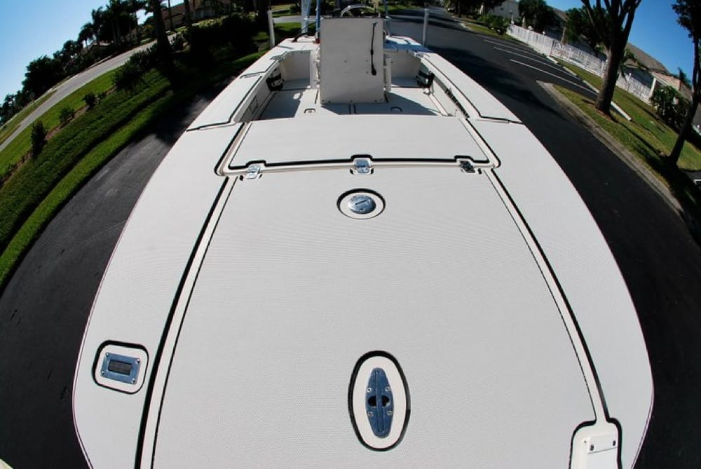A neat view from the front of the bow