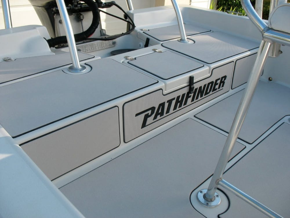 Rear Deck with Pathfinder logo on bulkhead