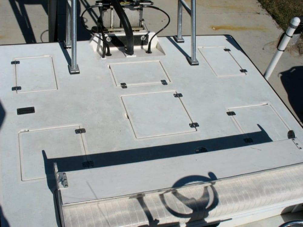 The rear deck before SeaDek