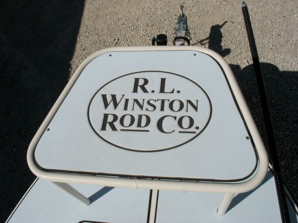 Custom logo on his custom casting platform