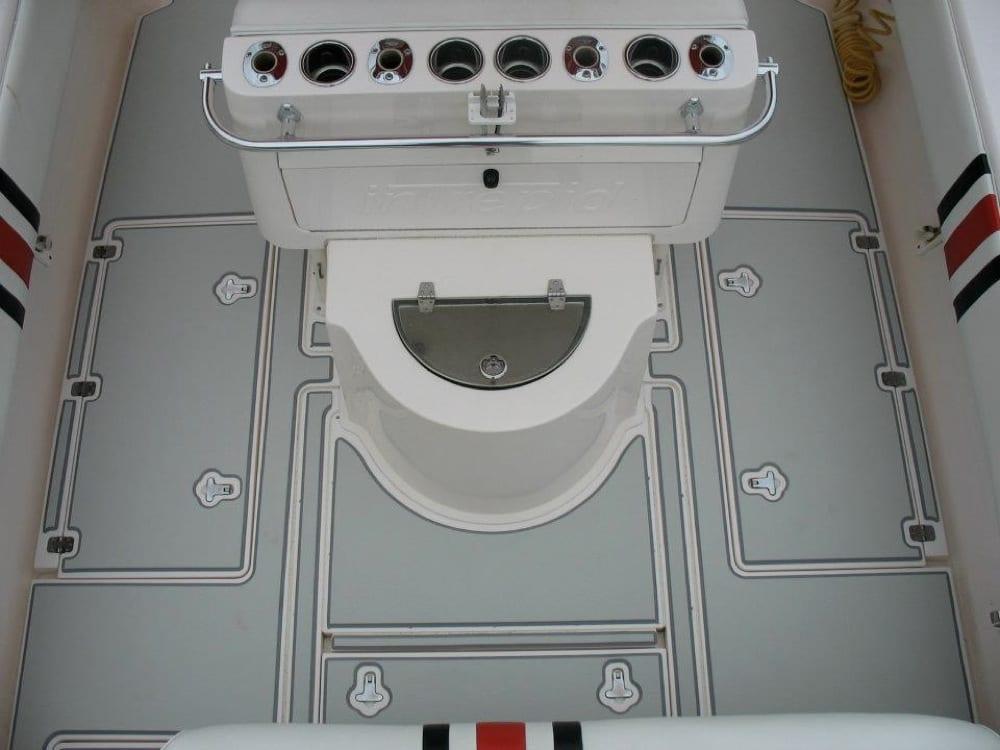 The rear cockpit floor