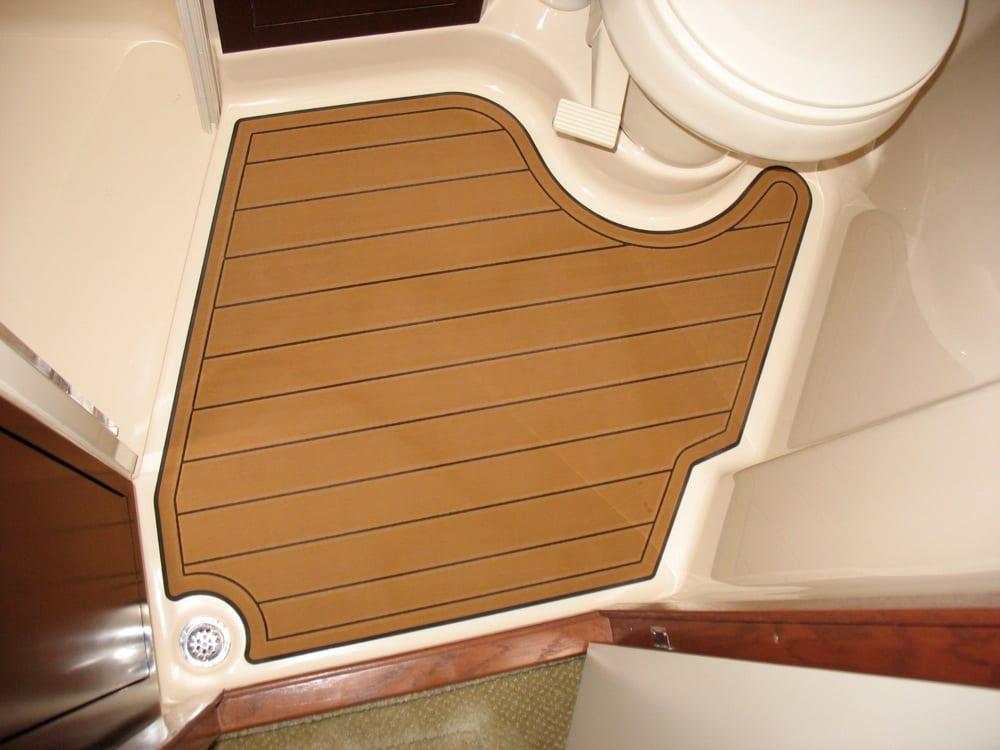 44 sea ray seadan bridge faux teak seadek castaway customs for Sundeck flooring