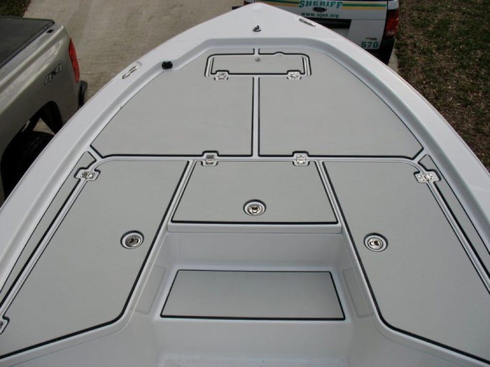 The front deck after Custom SeaDek