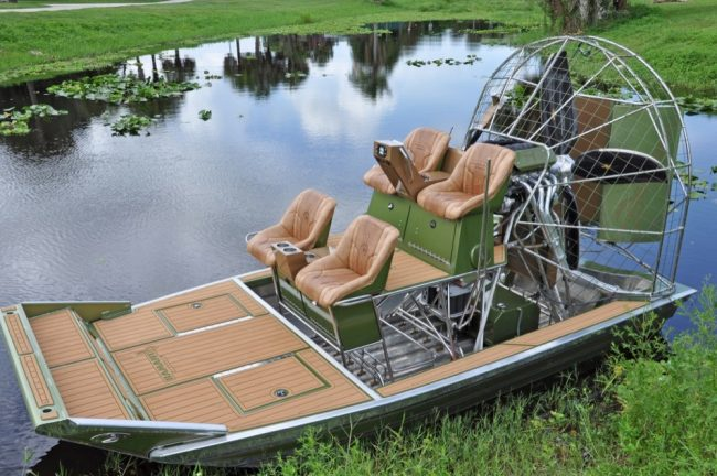 Castaway Customs Hamant Airboats Custom SeaDek Airboating Airboat Decking