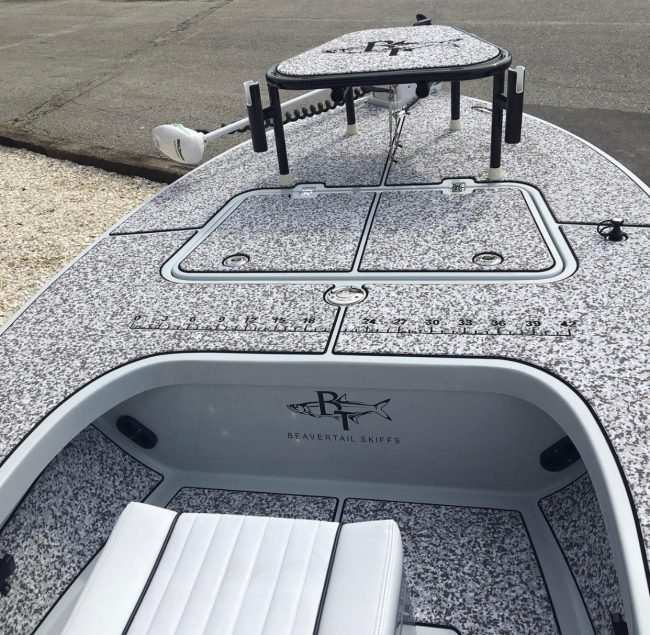 Castaway Customs Beavertail Skiff Custom SeaDek Flats Boat Marine Flooring