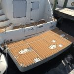 Castaway Customs Carver Yachts Custom SeaDek Faux Teak Swim Platform Marine Flooring