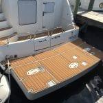 Castaway Customs Carver Yachts Custom SeaDek Faux Teak Swim Platform Marine Flooring