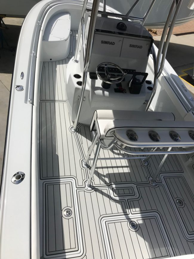 Castaway Customs Contender Boats Custom SeaDek Faux Teak Marine Flooring