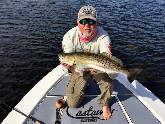 Castaway Customs Custom SeaDek Trout Fishing Tampa Bay Pathfinder Bay Boat