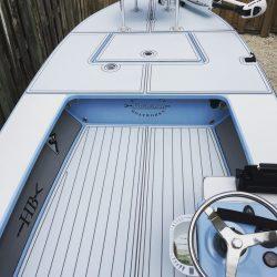 Castaway Customs Hells Bay Boatworks Waterman Skiff Custom SeaDek Flats Boat Marine Flooring
