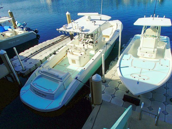 Castaway Customs Spectre Boats Yellowfin Bay Boat Custom SeaDek Marine Flooring