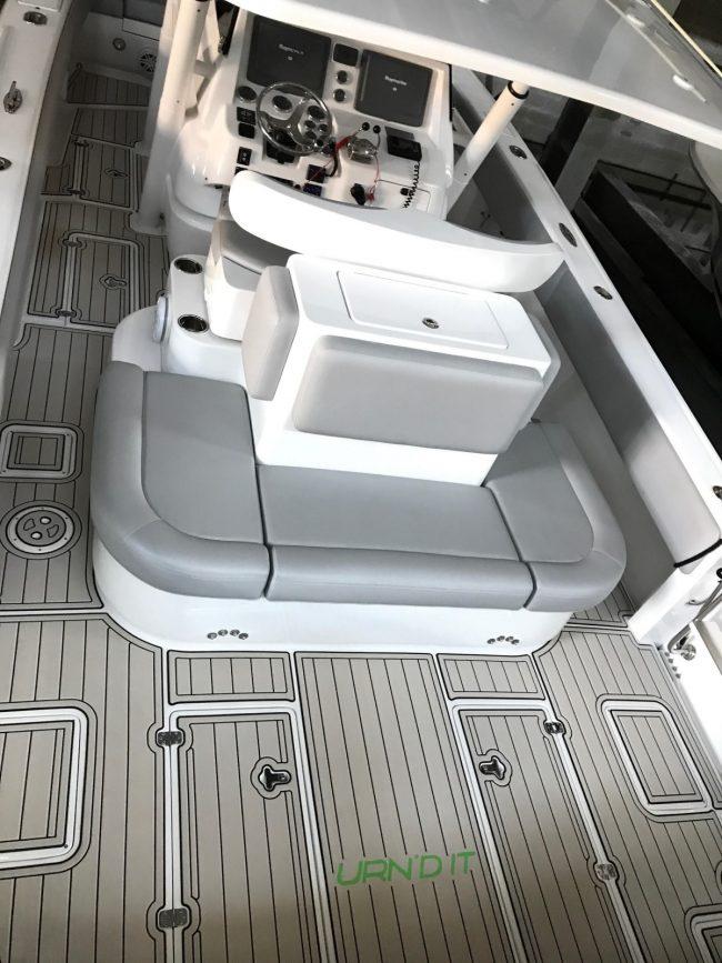 Castaway Customs Intrepid Powerboats Custom SeaDek Faux Teak Marine Flooring