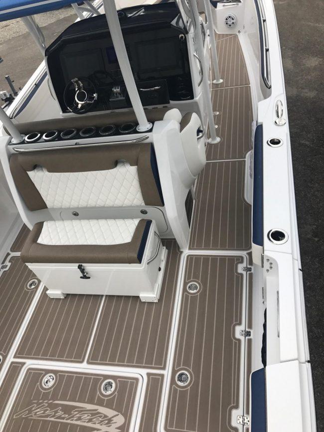 Castaway Customs Nortech Boats Custom SeaDek Offshore Powerboat Faux Teak Marine Flooring