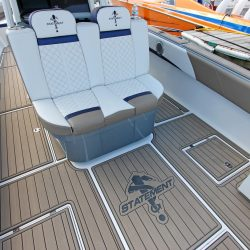 Castaway Customs Statement Marine Boats Custom SeaDek Offshore Powerboat Faux Teak Marine Flooring
