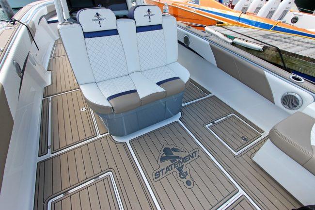 Castaway Customs Statement Marine Boats Custom SeaDek Offshore Powerboat Faux Teak Marine Flooring