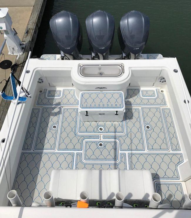 Castaway Customs Invincible Center Console Custom SeaDek Marine Flooring